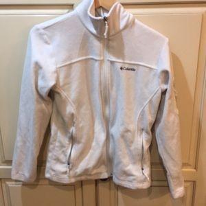 Columbia fleece jacket white s